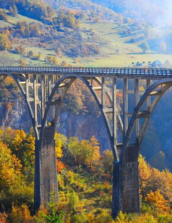 hill of tara: Djurdjevica Tara Bridge is a concrete arch bridge over the Tara River in northern Montenegro