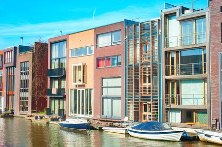 canal street: Zeeburg - modern luxury district of Amsterdam. Netherland