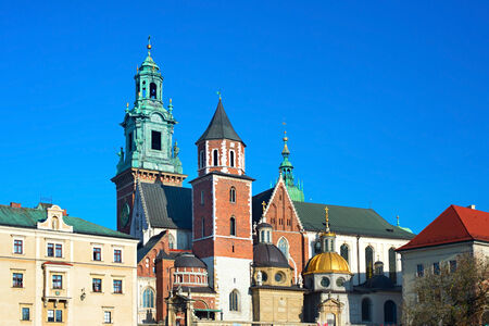 wawel: Basilica of St. Stanislaw and Vaclav or Wawel Cathedral in Krakow, Poland