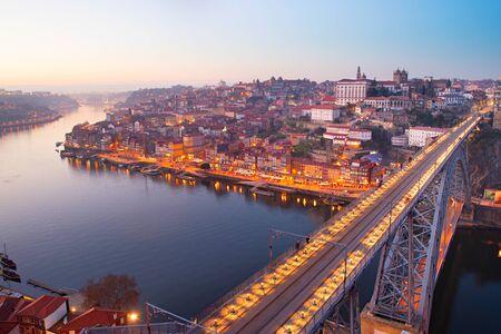 luis: Skyline of Porto with famousDom Luis Bridge, Portugal