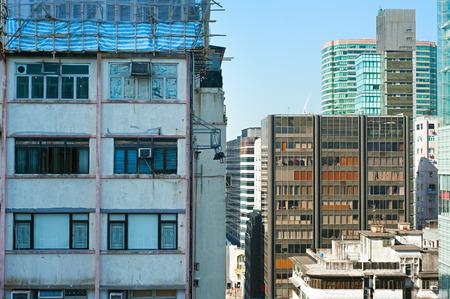 density: Density urban living in Kowloon island, Hong Kong Stock Photo