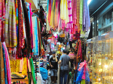 Chatuchak weekend market in Bangkok, Thailand. It is the largest market in Thailand. Stock Photo