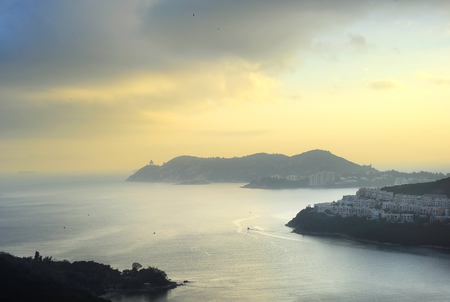 seafront: New territories of Hong Kong on the ocean beach Stock Photo