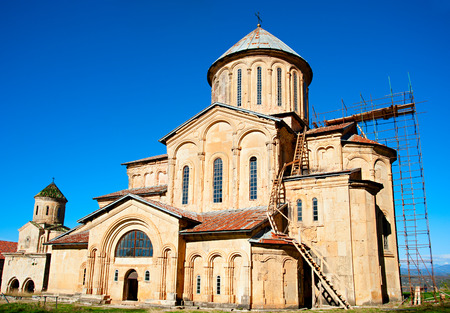 monastery nature: Gelati Monastery , Georgia. It contains the Church of the Virgin founded by the King of Georgia David the Builder in 1106, and the 13th-century churches of St George and St Nicholas.