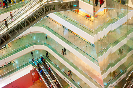 luxury goods: HONG KONG - JANUARY 15, 3013: Times Square is a major shopping centre in Hong Kong. Consists of 83,700 m² of retail space, and two office towers with 102,300 m² of accommodation.