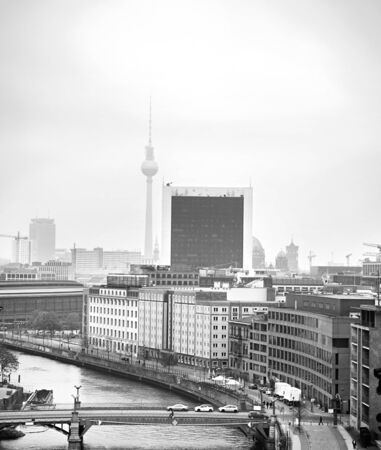 Aerial cityscape of Berlin with main city ladmarks. Germany photo