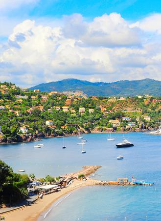 Luxe plage, yachts et bateaux. Côte d'Azur, Côte d'Azur ou la Côte d'Azur, Provence, France