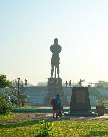 the sentinel: MANILA, PHILIPPINES - APRIL 01, 2012: The Statue of the Sentinel of Freedom (statue of Lapu-lapu) in Luneta park, Metro Manila, Philippines