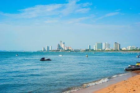 jetski: Jetski on the Pattaya beach in the sunshine day, Thailand