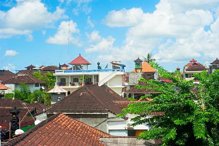 kuta: Architecture of Kuta, Bali. Kuta - most popular tourist destination on the island.