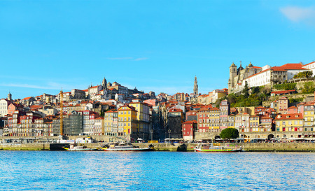 architectural heritage of the world: Skyline of Porto, Portugal. View from Gaia