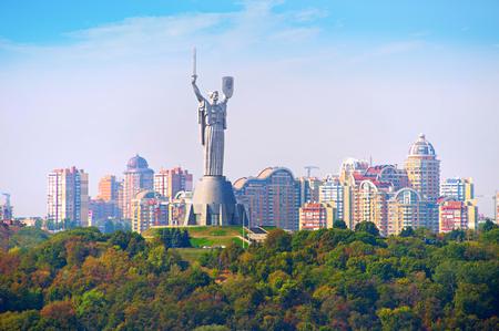 Mother Motherland statue devoted the Great Patriotic War in Kiev, Ukraine.