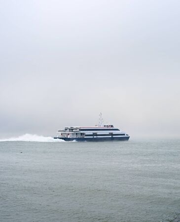 ferry boat: Modern Ferry boat from Lisbon to Almada. Portugal Stock Photo