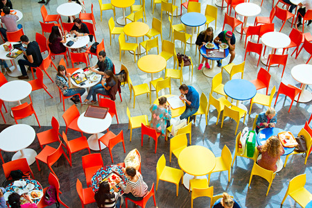 bar top: KYIV, UKRAINE - SEPT 22, 2015: People at Ocean Plaza shopping mall in Kyiv. Ocean Plaza is the second largest shopping mall and entertainment complex of Kyiv. Editorial