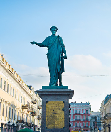 duke: Monument of Duke de Richelieu in Odessa, Ukraine.