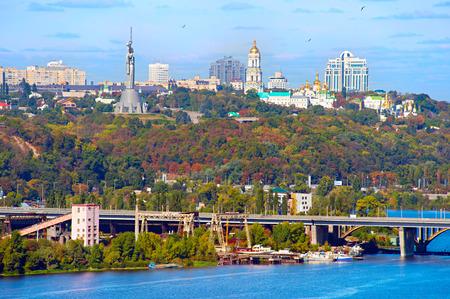 Skyline of Kiev - the capital of Ukraine  in the sunshine day Stock Photo