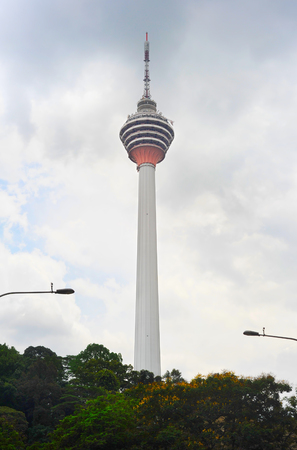 kuala lumpur tower: Kuala Lumpur Tower (Menara) in Kuala Lumpur, Malaysia. The tower reaches 421 m which currently makes it the second tallest freestanding tower in the world.