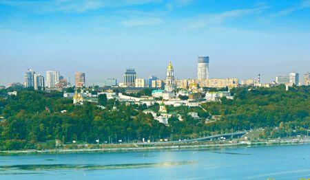 lavra: Panoramic view Kiev with Kiev Pechersk Lavra. Ukraine