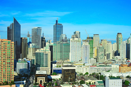manila: Makati city - modern financial and business district of Metro Manila, Philippines