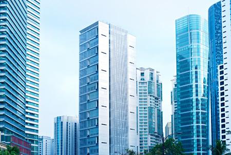 Gratte-ciels dans le centre d'affaires de Kuala Lumpur. Malaisie