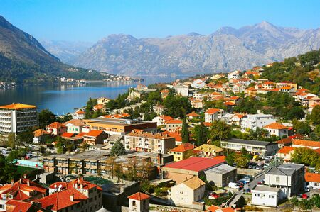 unesco: Aerial view of Kotor, Montenegro - UNESCO World Heritage Site Stock Photo