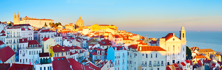 portugal: Famous Alfama district - Old Town of Lisbon. Portugal