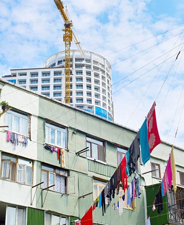 Old and modern architecture of Batumi. Georgia