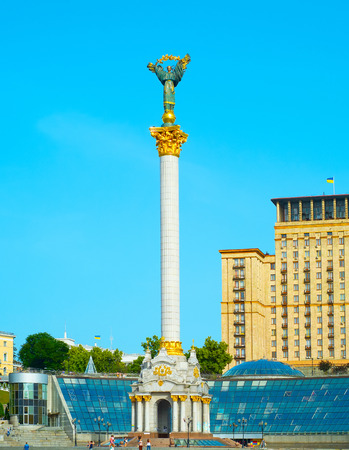 maidan: Independence Monument on the Maidan Nezalezhnosti square in Kiev, Ukraine