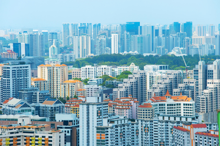 Density architecture of living districts of Singapore