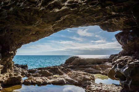 inferno: Seaside Cave in Boca Do Inferno Portugal