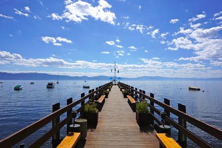 tahoe: Pier in Lake Tahoe