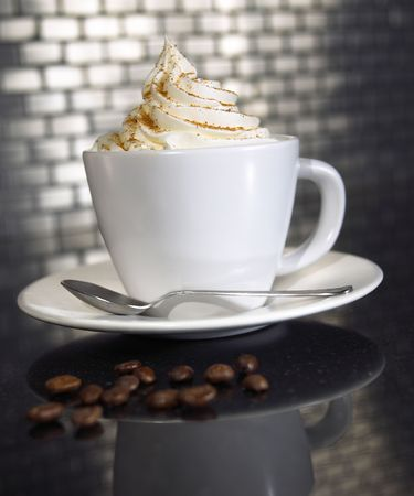 coffe with whipcream Stock Photo - 461586