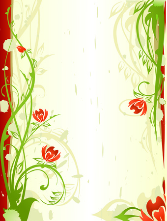 abstract floral background Stock Vector - 1437970