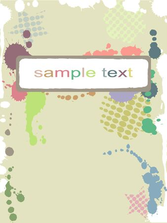spotty:  abstract colorful pastel spotty frame Illustration