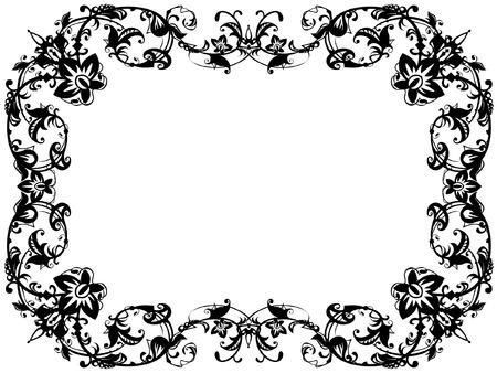 ornamental black and white frame Vector