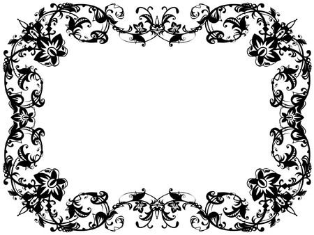 ornamental black and white frame