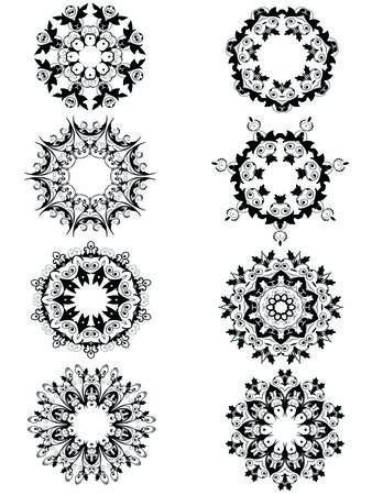 abstract vector victorian ornamental frames Stock Vector - 1637804