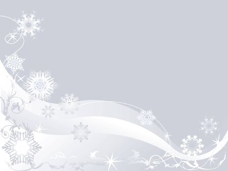 abstract vector winter background with snowflakes Stock Vector - 1674438