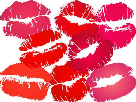 şehvet: vector lipstick print various color