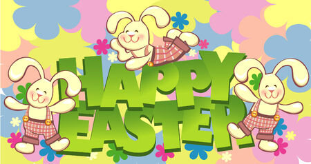 manic: happy easter vector card