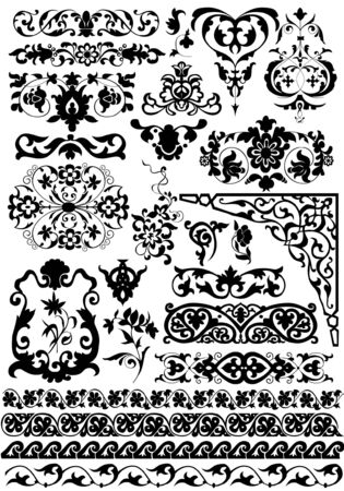 set of vector floral design elements Stock Vector - 2669240