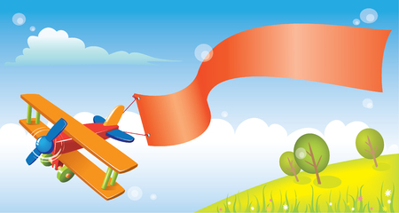 funny cartoon plane for your design Stock Vector - 3143083