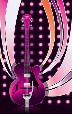 vector style guitar Vector