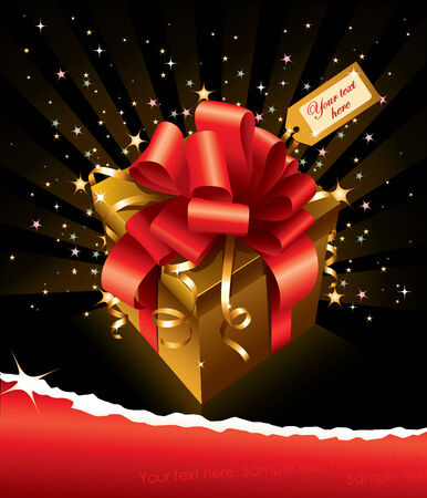 beauty vector gift. shine background Stock Vector - 4534183