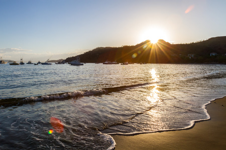 Boats in Ocean During Sunrise in Costa Rica
