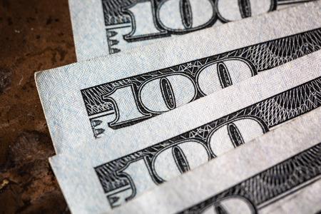 Close Up Macro Money American Dollars
