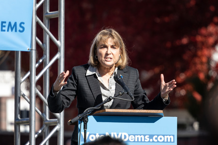 RENO, NV - October 25, 2018 - Kate Marshall at a political rally on the UNR campus.