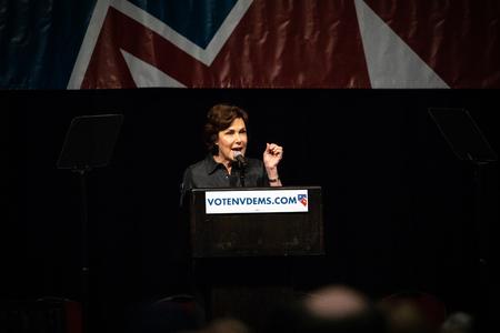 Reno, NV - June 23, 2018 - Jacky Rosen Yelling At Nevada State Democratic Convention Editorial