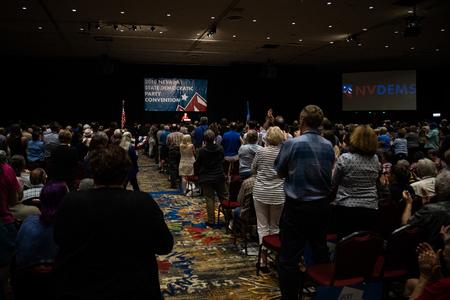 Reno, NV - June 23, 2018 - Wide Angle Photo Of Elizabeth Warren Nevada State Democratic Convention