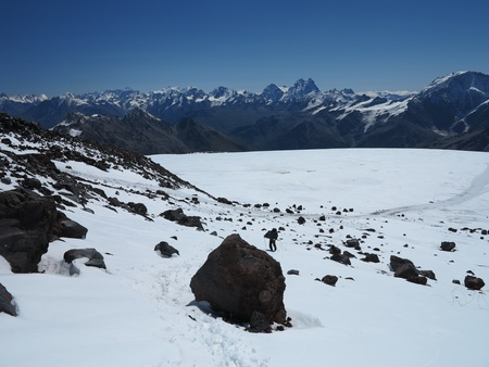 Caucasus Mountains from Elbrus Base Camp